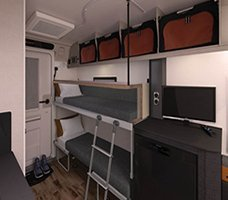 2021 Swift Basecamp CCV: Image of the bunkbeds in the Basecamp 4.
