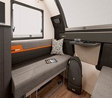 2021 Swift Basecamp CCV: Image of the seating in the Basecamp 4.