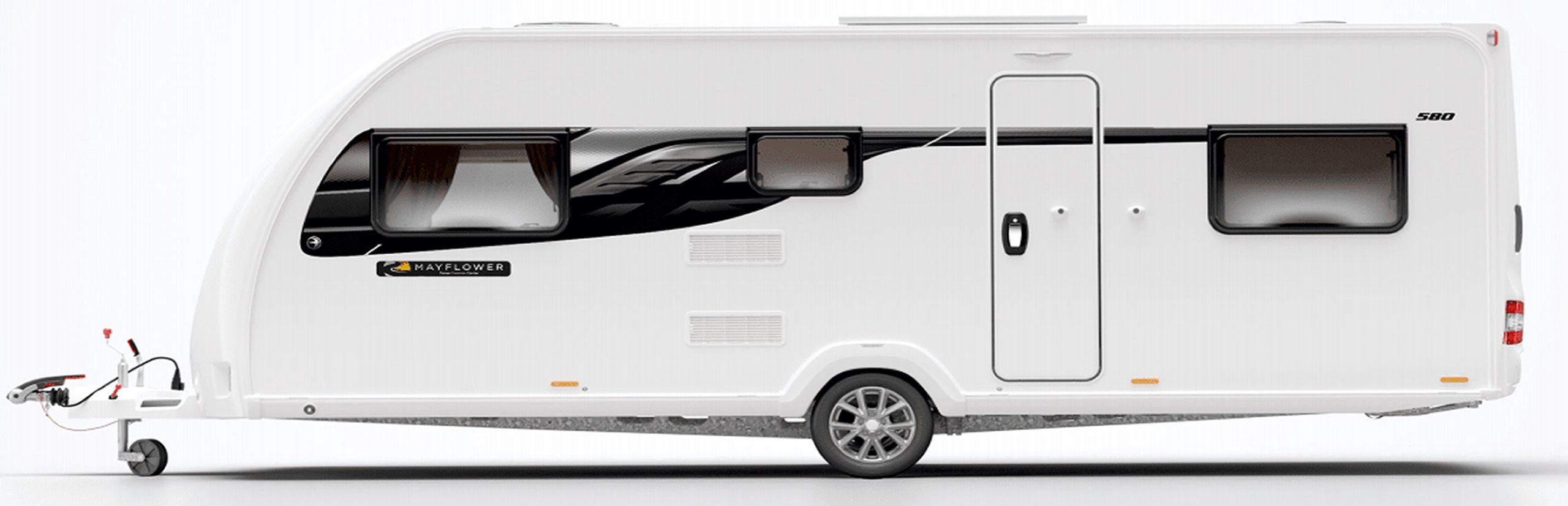 2021 Swift Mayflower Special Edition: Side view image of the Mayflower caravan.