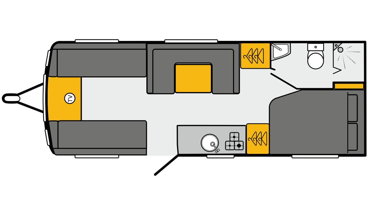 2021 Mayflower Special Edition: Floorplan of the 830 model.