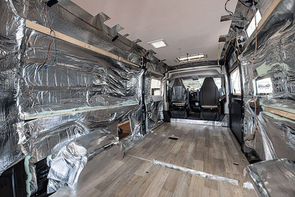 Why Choose a Pilote Motorhome: Image of the insulation in a Pilote Motorhome.