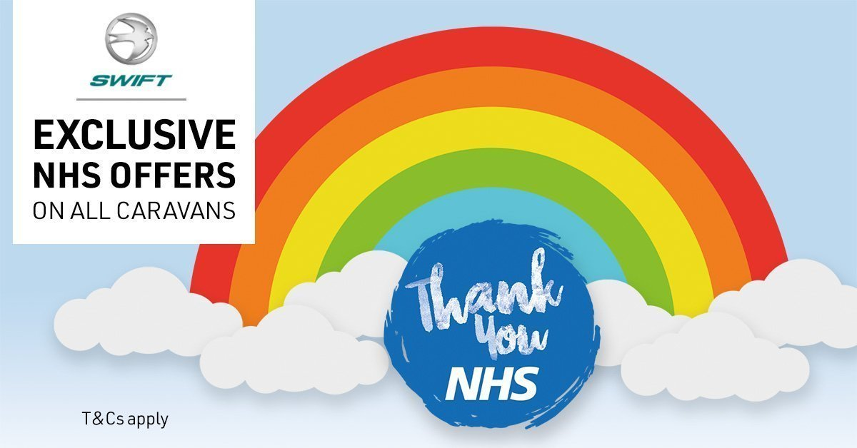 NHS Discount Event: Image of a rainbow with the words 'thank you NHS' below it.
