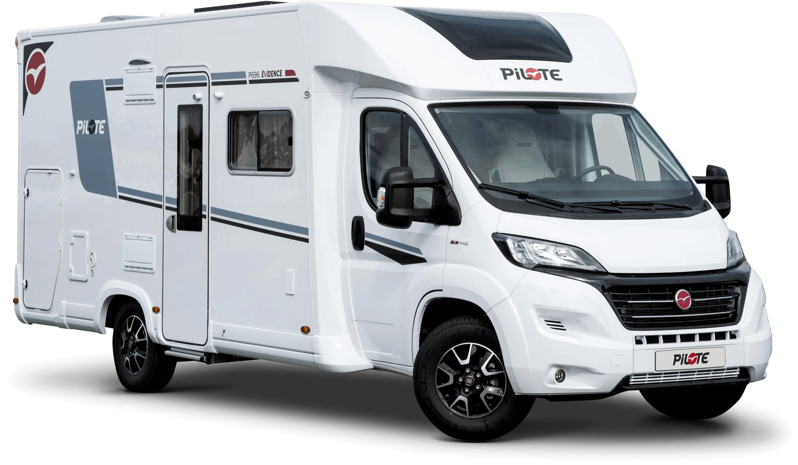Why Choose a Pilote Motorhome?: Image of a Pilote Motorhome on a white background.