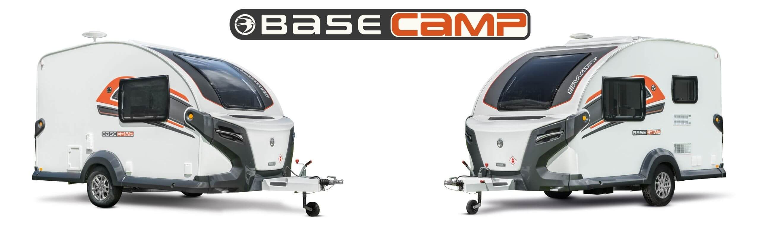2022 Swift Basecamp: Image of the Basecamp's left and right side profiles.